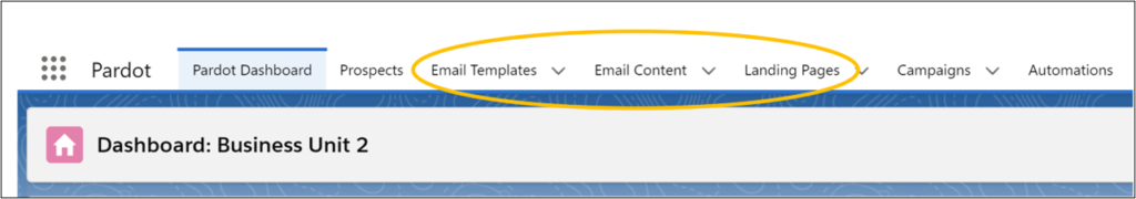 Salesforce Content Setup See tabs