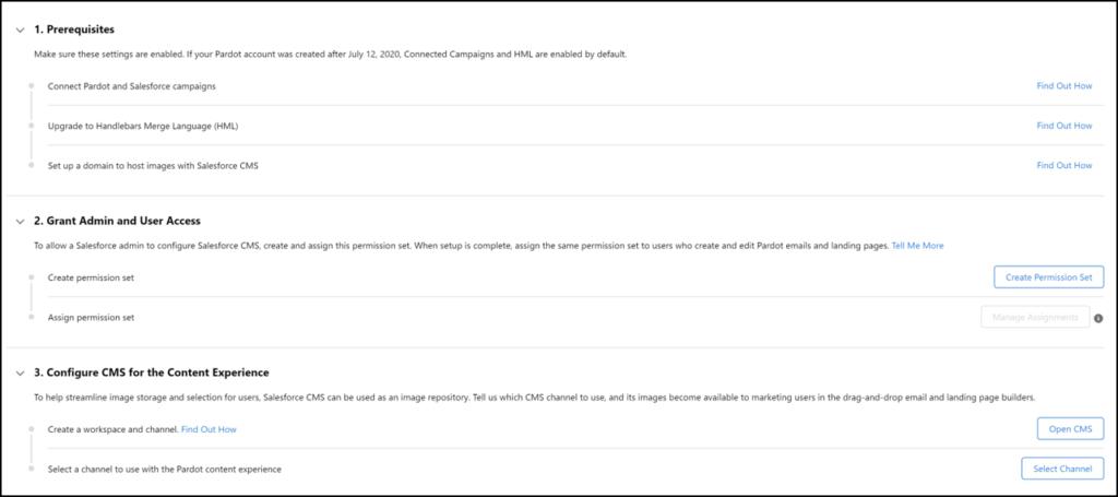 Salesforce Content Setup