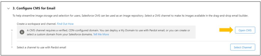 Pardot Email Builder Configure for CMS