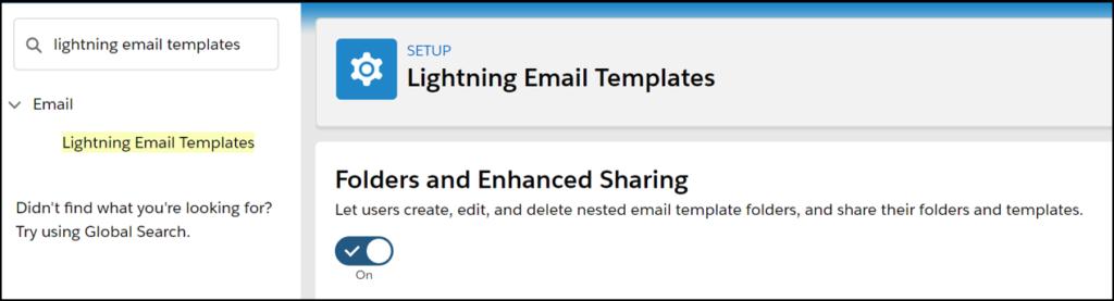 Salesforce lightning email templates