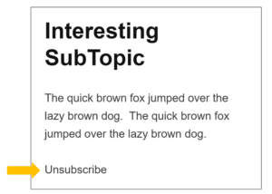 Email Content Unsubscribe