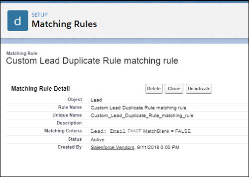 matching rule