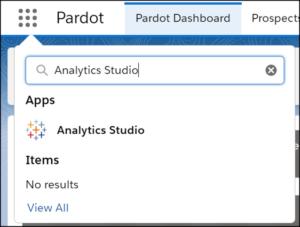 Salesforce analytics studio