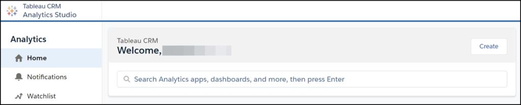 Analytics Studio main page