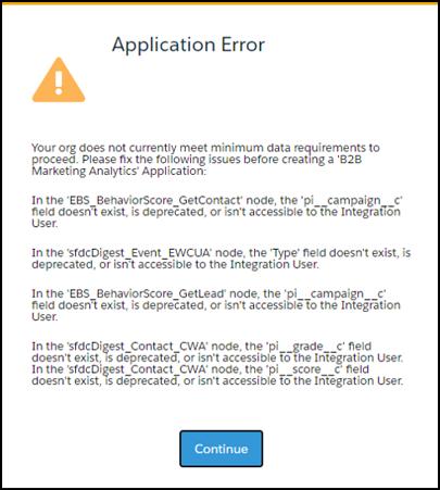 B2BMA Error message