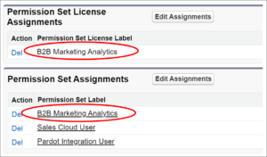 B2BMA license and permission set