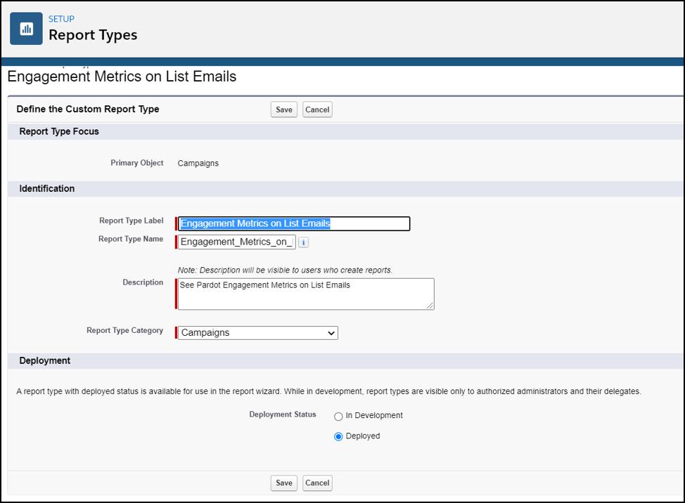 salesforce pardot custom engagement history email report