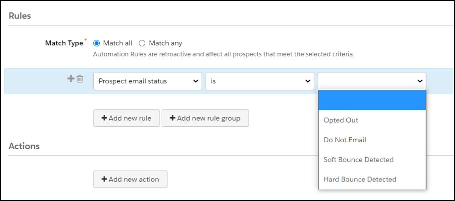 pardot mailability autiomations criteria