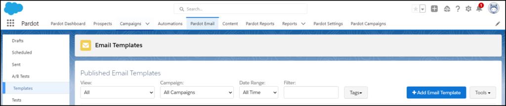 pardot email templates